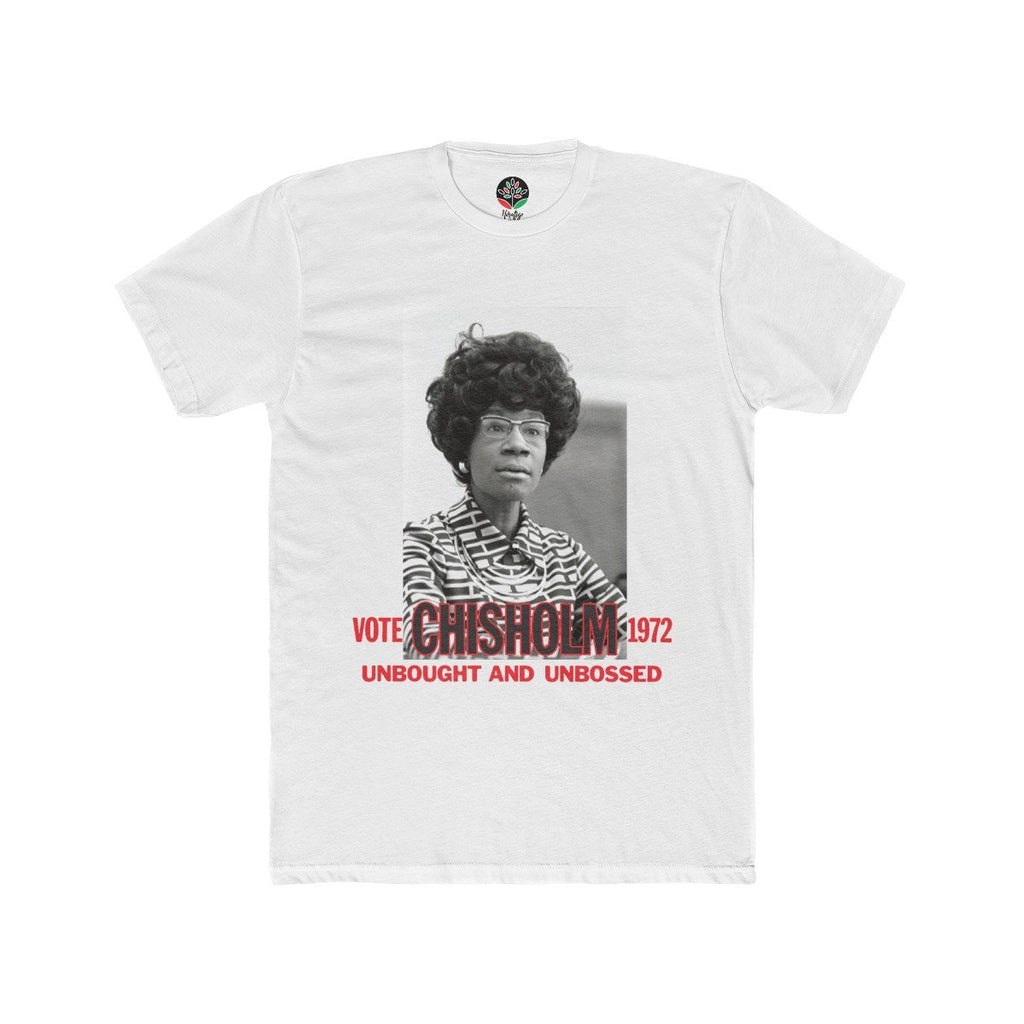 Vote Chisholm 1972 Unbought and Unbossed White Tee - HeritageHill