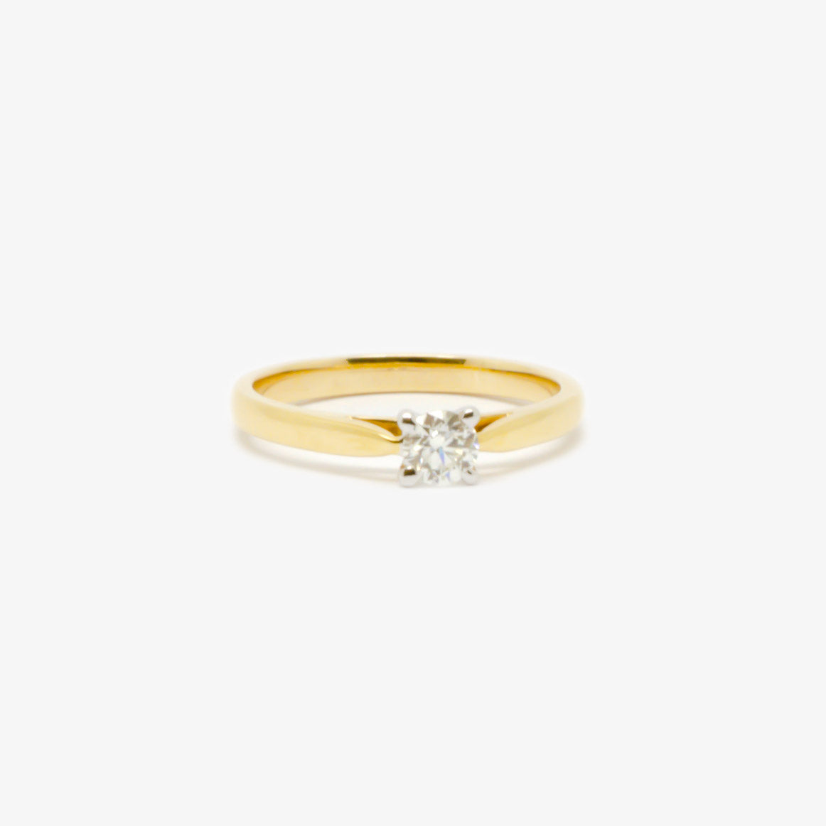 0.27 Carat Four Claw Diamond Solitaire Ring