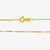 Jordans Jewellers 18ct yellow gold pre-owned box chain