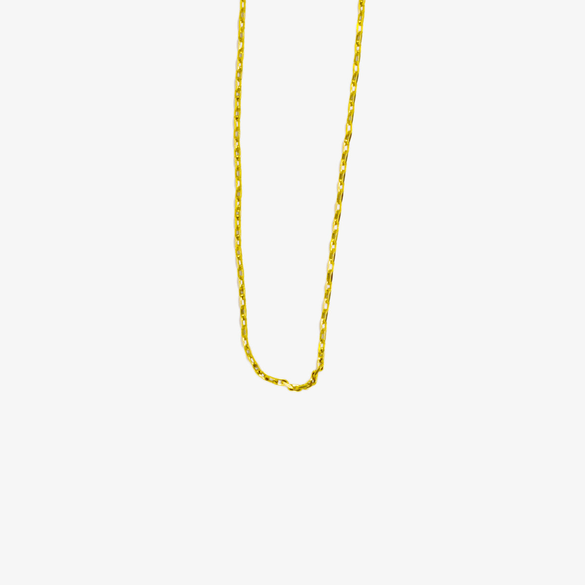 Jordans Jewellers 9ct yellow gold 17 inches pre-owned faceted belcher chain - Alternate shot 1 - Alternate shot 2