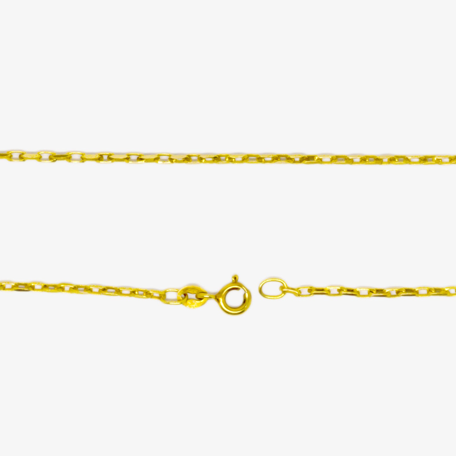 Jordans Jewellers 9ct yellow gold 17 inches pre-owned faceted belcher chain