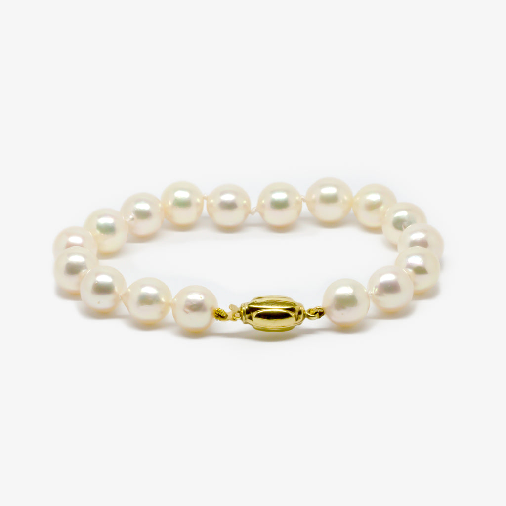 Jordans Jewellers 14ct yellow gold antique cultured fresh water pearl bracelet