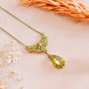 Jordans Jewellers french 18ct yellow gold citrine integral fancy link necklace - Lifestyle shot 1