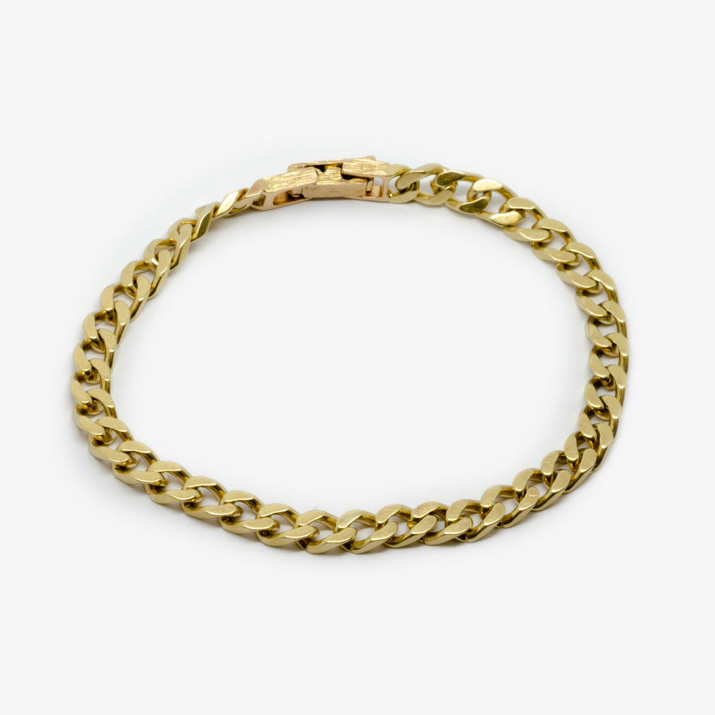 Jordans Jewellers 9ct yellow gold pre-owned gent's bracelet