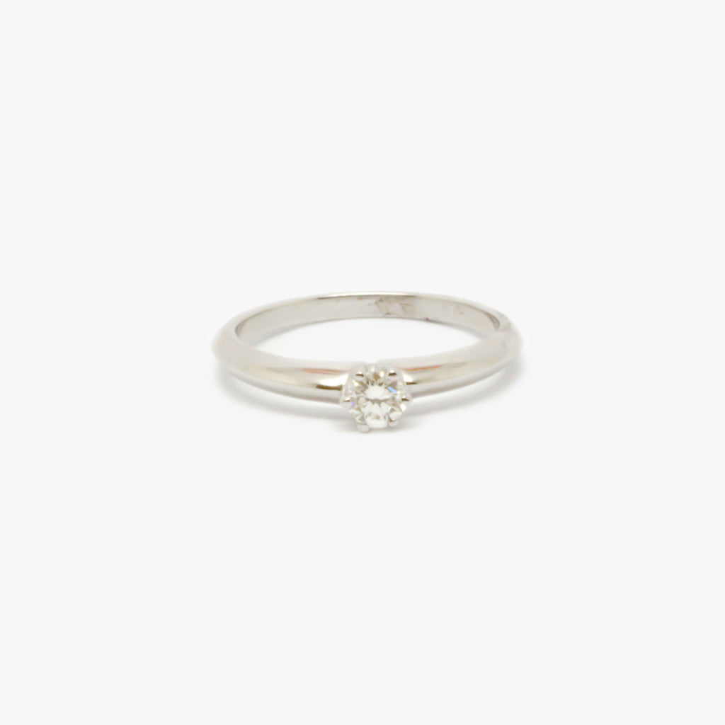 Jordans Jewellers 18ct white gold six claw diamond solitaire ring