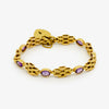 Jordans Jewellers 18ct yellow gold pre-owned amethyst bracelet