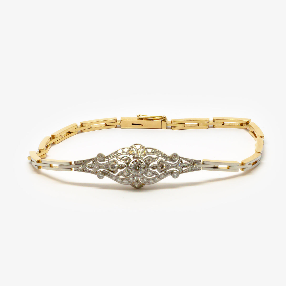 Diamond & Gold Bracelet
