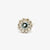 Jordans Jewellers 18ct white gold pre-owned aquamarine and diamond daisy cluster ring