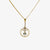 Jordans Jewellers 15ct yellow gold antique aquamarine lavalier pendant necklace