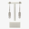Jordans Jewellers 18ct white gold art deco style 1.05ct diamond drop earrings