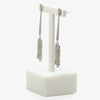 Jordans Jewellers 18ct white gold art deco style 1.05ct diamond drop earrings - Alternate shot 1