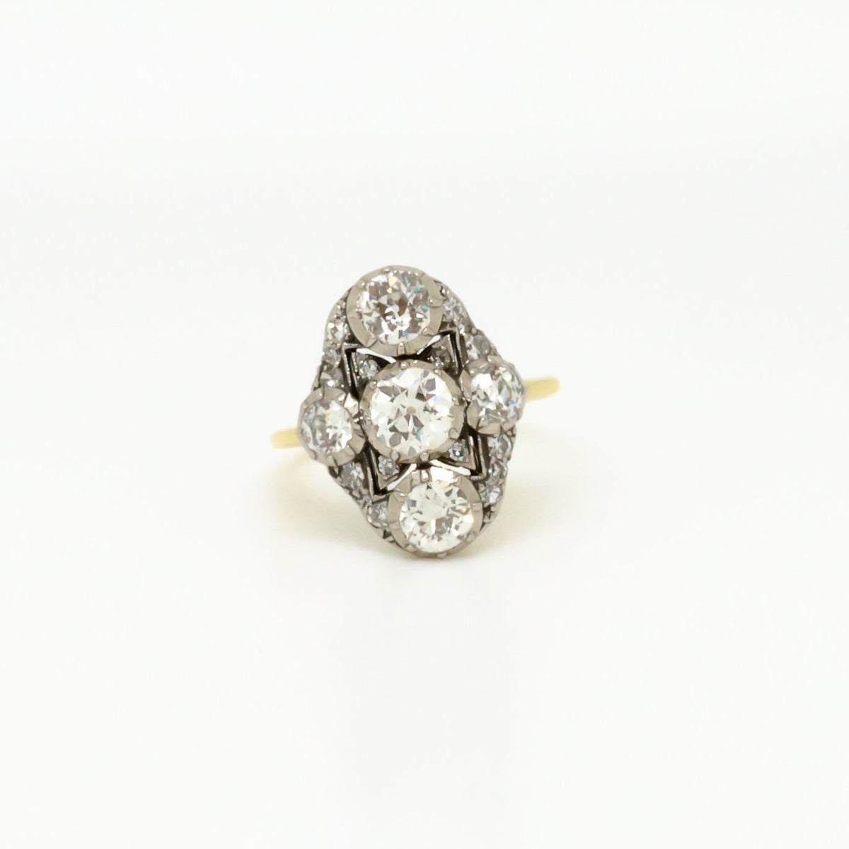 Antique Diamond Cluster Ring - Jordans Jewellers
