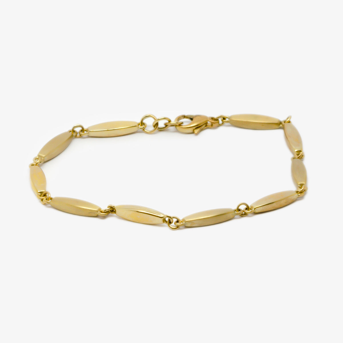Jordans Jewellers 9ct yellow gold brushed and polished bracelet
