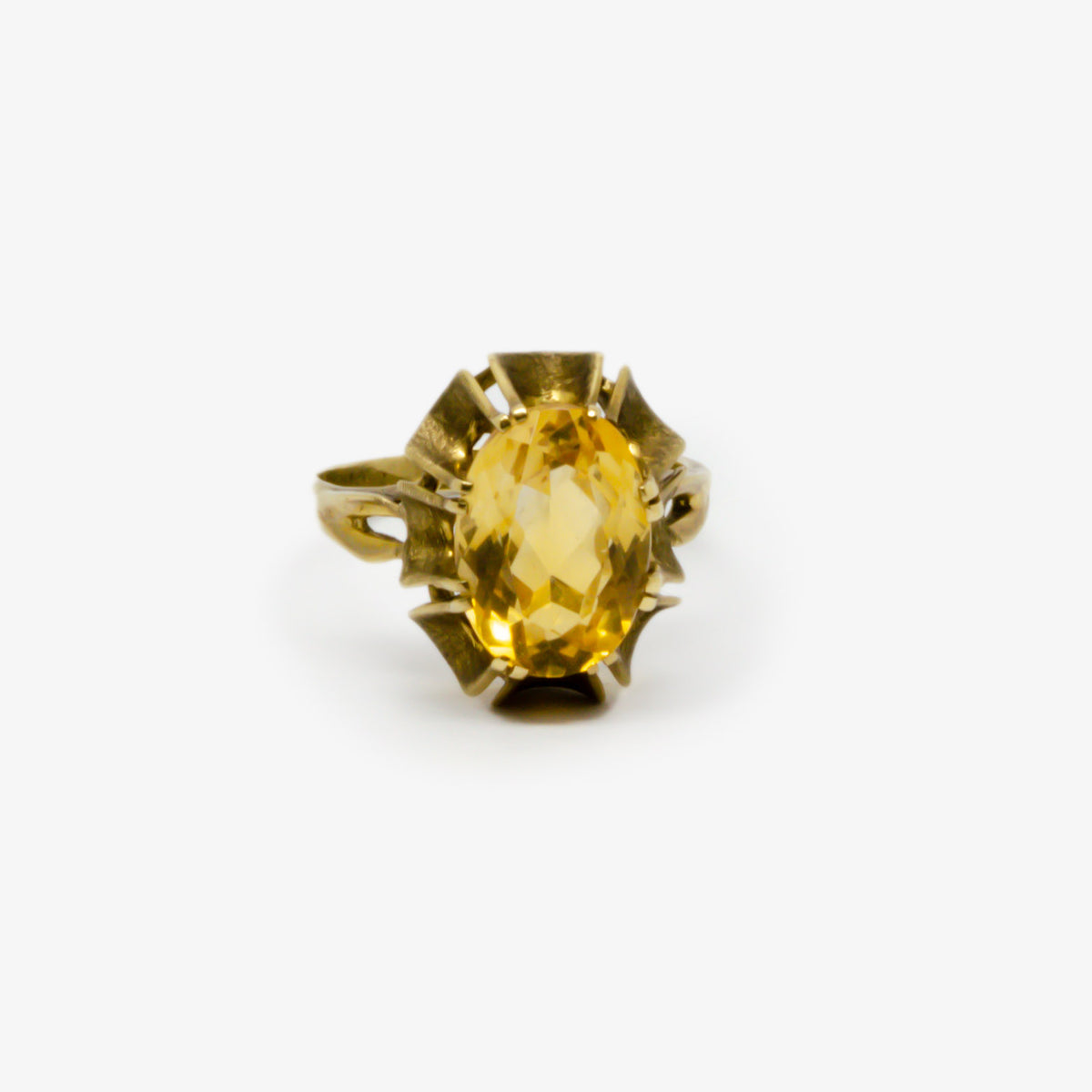 Oval Cut Citrine Ring
