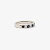 Jordans Jewellers 18ct white gold sapphire and diamond half eternity ring - Alternate shot 1