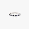 Jordans Jewellers 18ct white gold thirteen stone sapphire and diamond ring