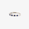 Jordans Jewellers 18ct white gold thirteen stone sapphire and diamond ring - Alternate shot 1