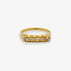 Jordans Jewellers 18ct yellow gold pre-owned five stone diamond ring