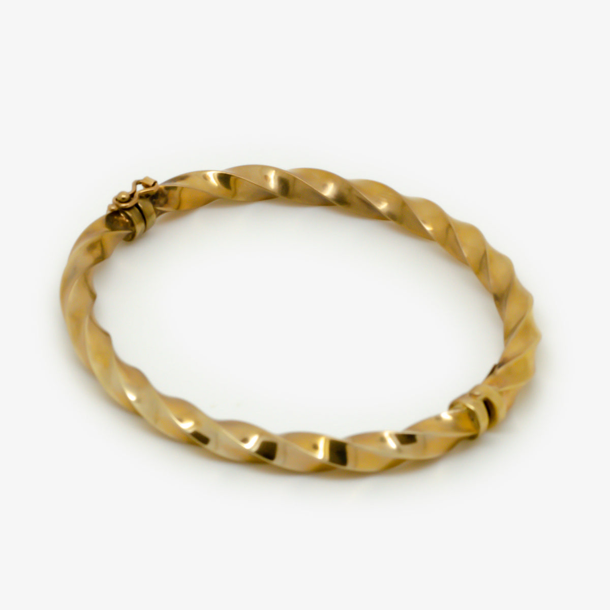 Twisted Gold Bangle Bracelet