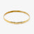 Jordans Jewellers 9ct yellow gold antique gold scallop edge bangle