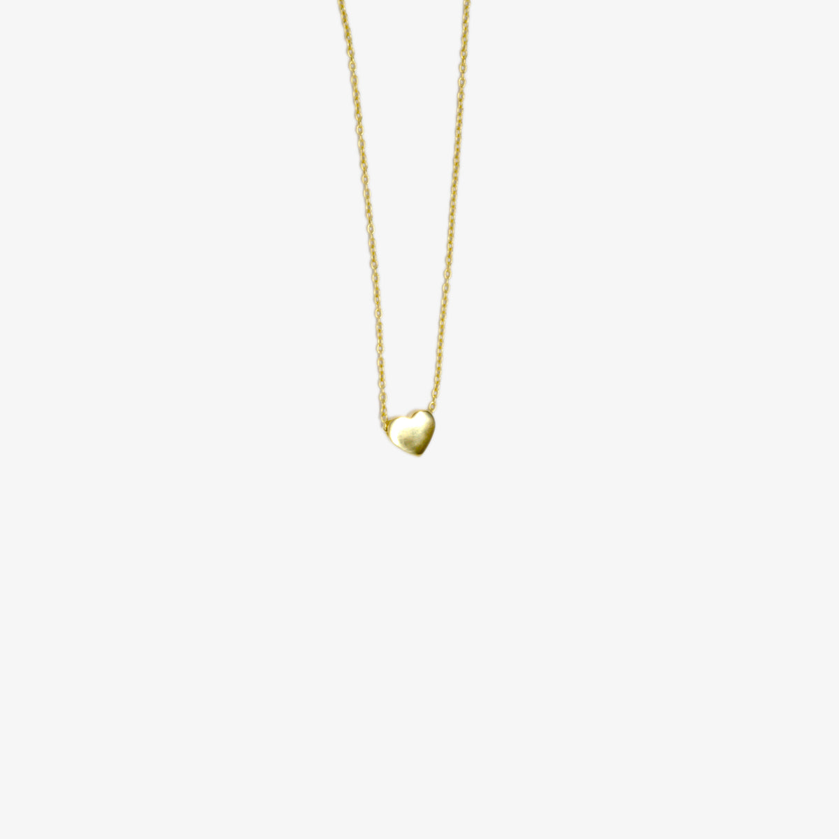 Yellow Gold Heart Pendant Necklace