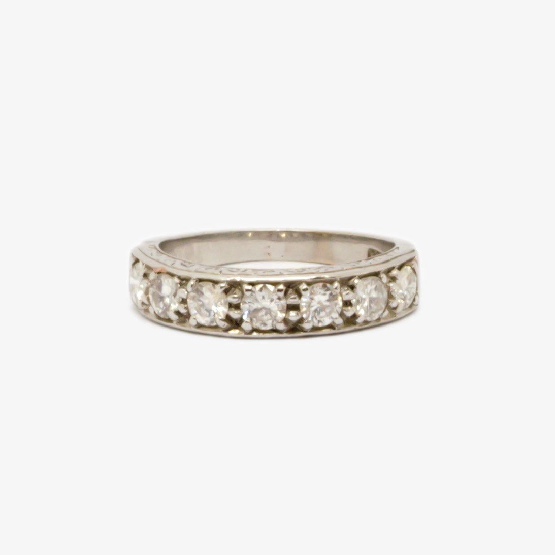 Seven Stone Diamond Half Eternity Ring