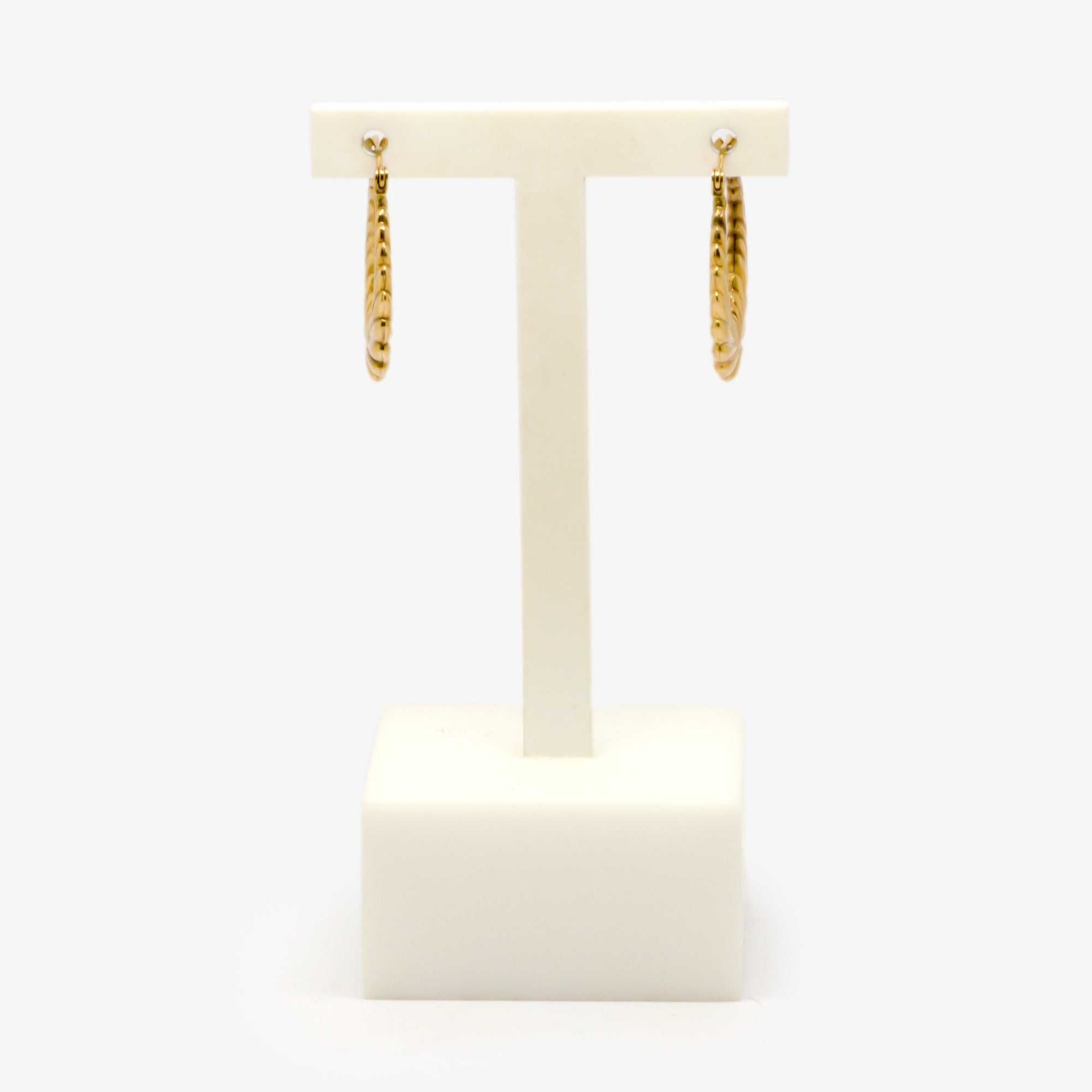 Jordans Jewellers 9ct yellow gold antique hoop earrings