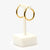 Jordans Jewellers pre-owned 9ct yellow gold large round hoop earrings