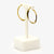 Jordans Jewellers 9ct yellow and white gold pre-owned oval hoop earrings