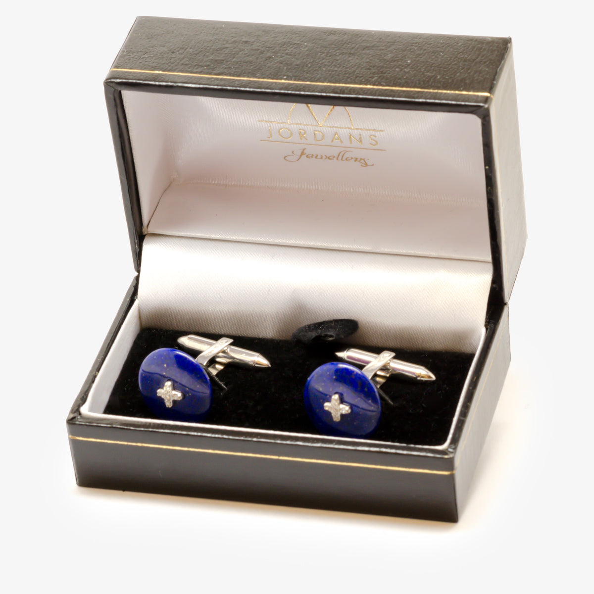 Lapis & Diamond Cufflinks