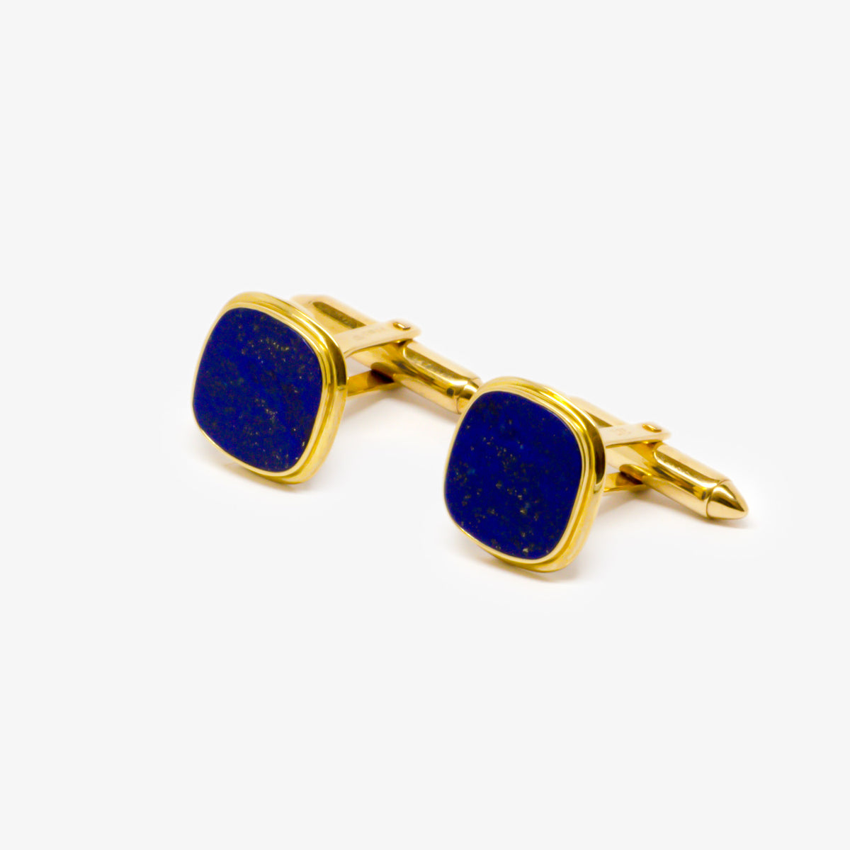 Gold Lapis Square Cufflinks
