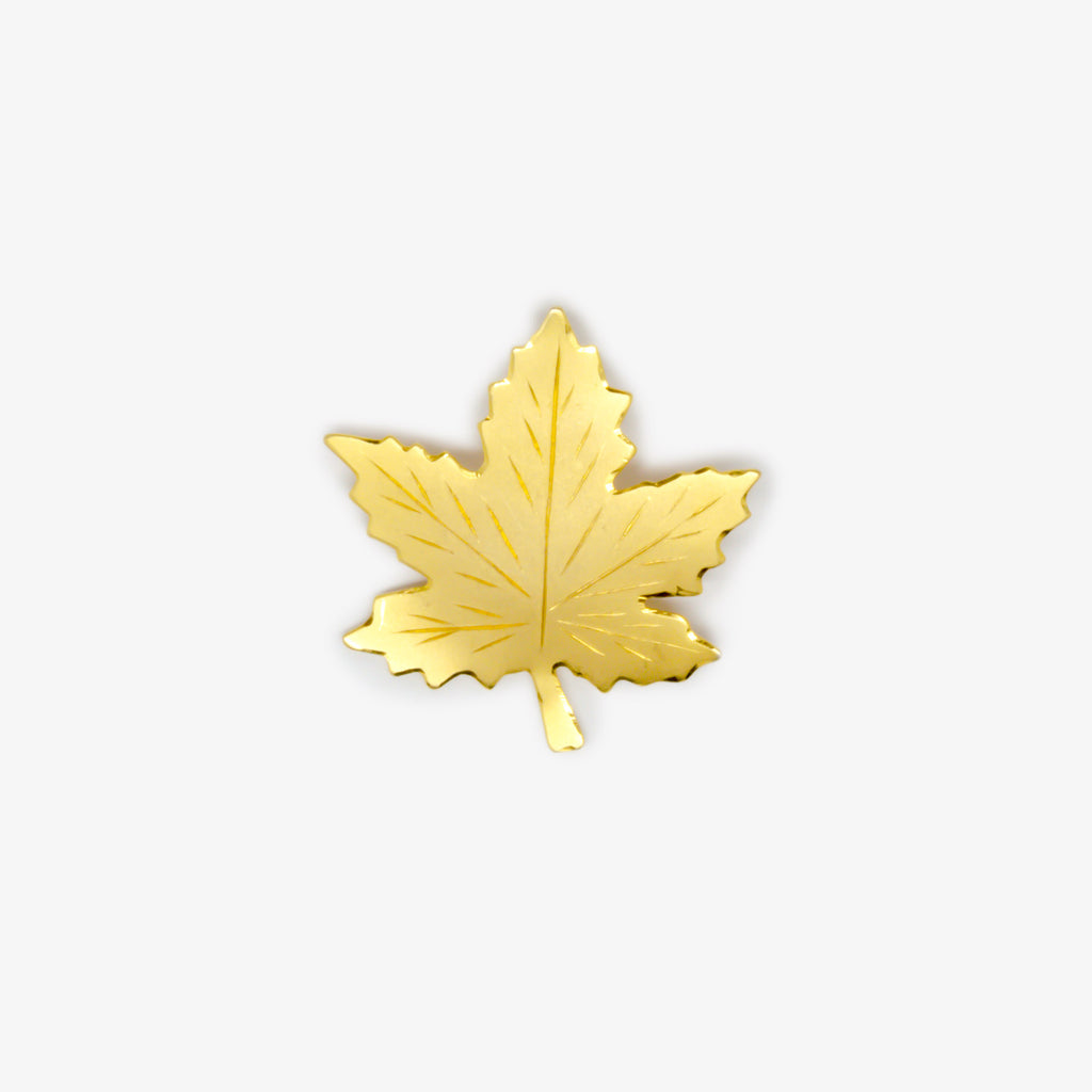 Jordans Jewellers pre-owned gold plated leaf brooch