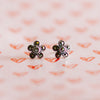 Jordans Jewellers silver marcasite flower stud earrings - Alternate shot 1 - Lifestyle shot 1