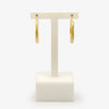 Jordans Jewellers 9ct yellow gold fope style hoop earrings - Alternate shot 1