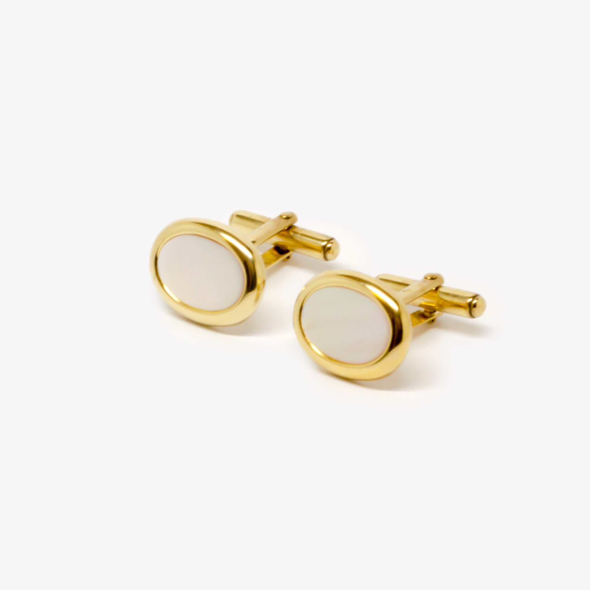 Jordans Jewellers 9ct yellow gold mother of pearl cufflinks
