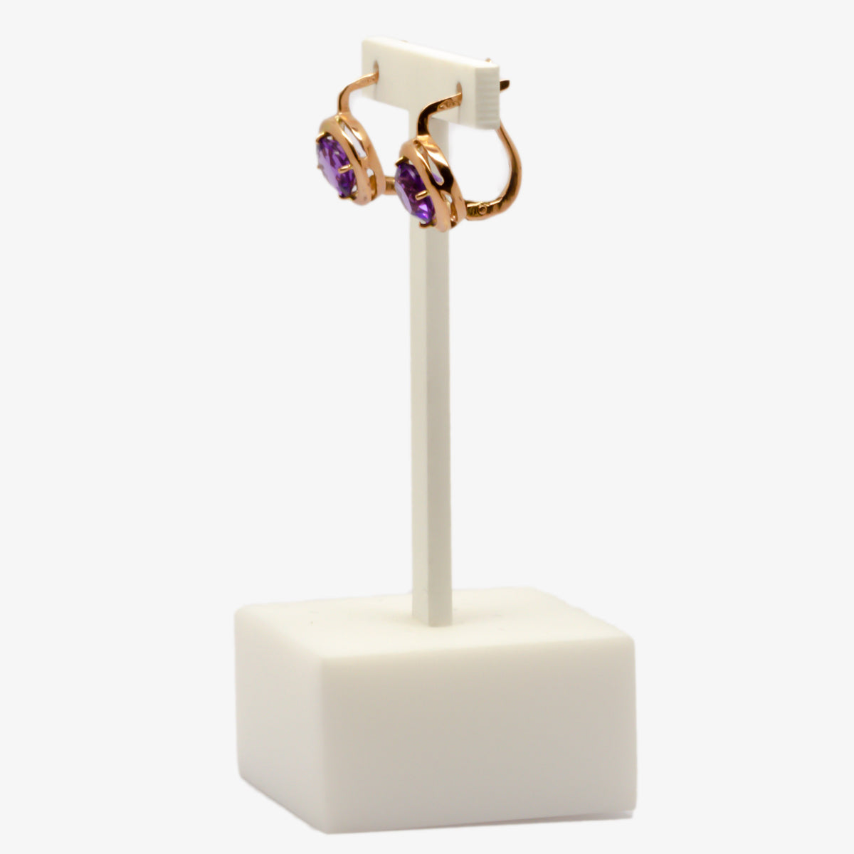 Amethyst Rose Gold Earrings