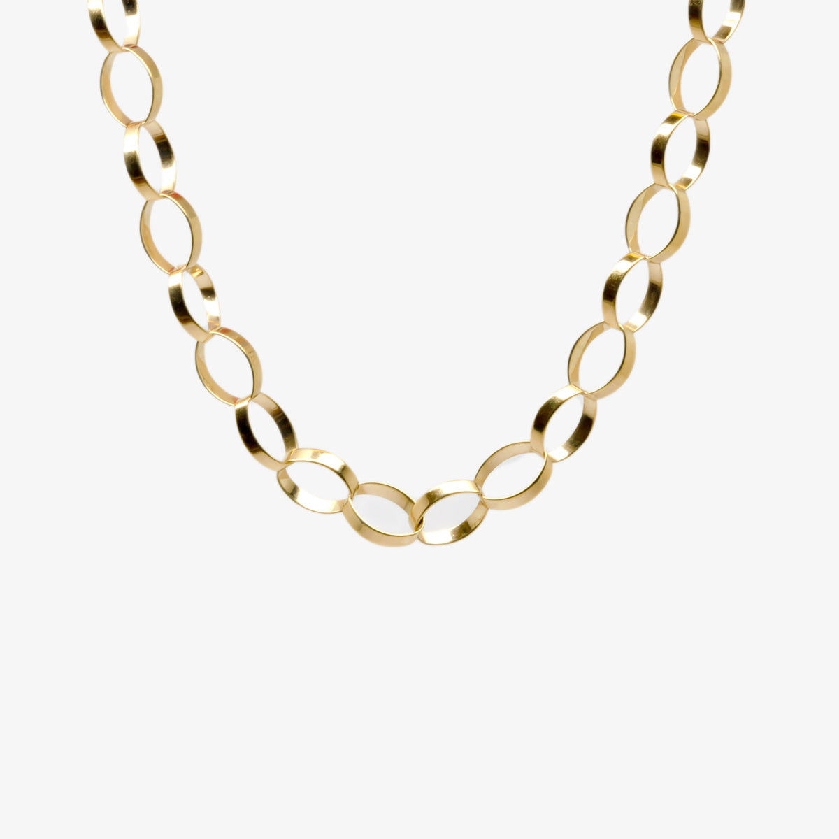 Oval Link Gold Necklace