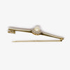 Jordans Jewellers platinum Art Deco antique pearl and diamond cluster bar brooch - Alternate shot 1