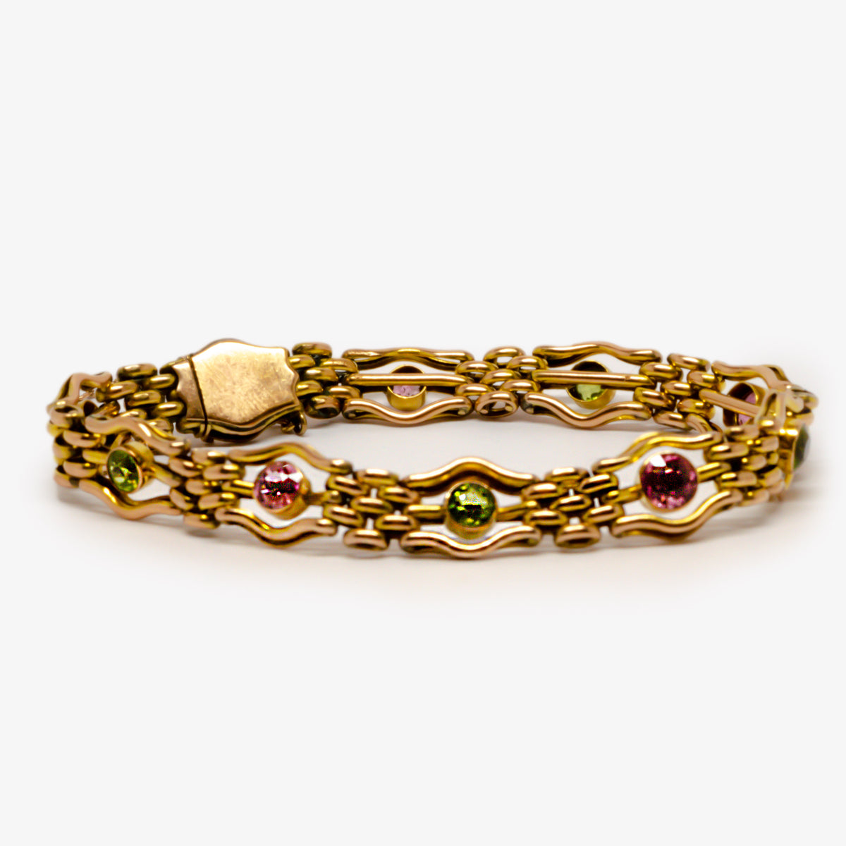 Antique Peridot & Tourmaline Bracelet