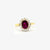 Jordans Jewellers 18ct gold pre-owned ruby and diamond cluster ring