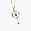 Antique Almandine Garnet & Seed Pearl Lavalier Necklace