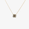 Jordans Jewellers 9ct gold Italian sapphire and diamond flower necklace