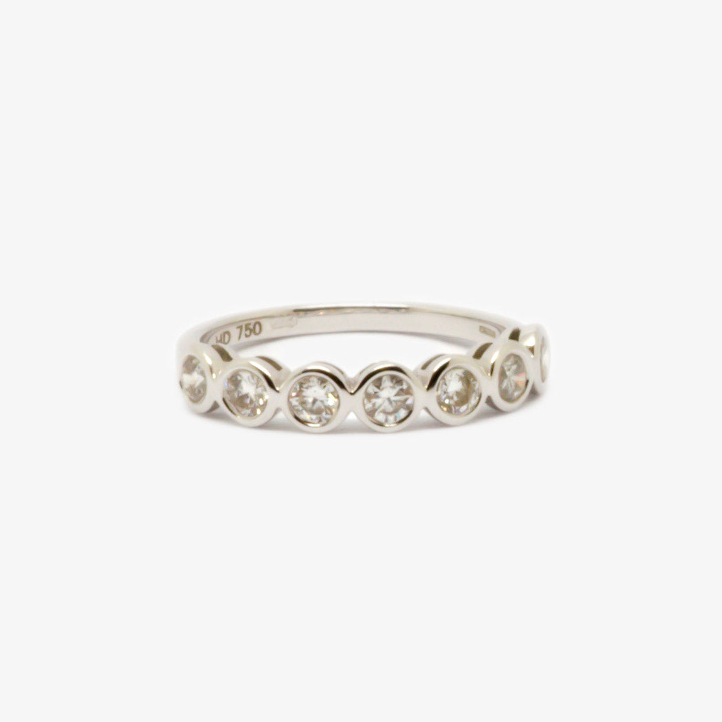 Seven Stone Diamond Rubover Eternity Ring