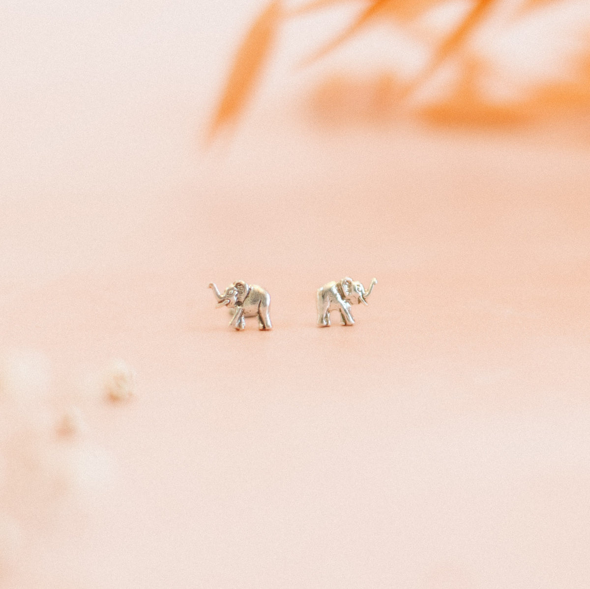 Lifestyle close-up picture of the elephant studs.