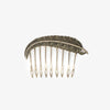 Jordans Jewellers silver marcasite feather hair comb - Alternate shot 1