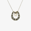 Jordans Jewellers reversible horseshoe pearl pendant necklace - Alternate shot 1