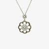 Jordans Jewellers silver marcasite flower pearl pendant necklace - Alternate shot 1