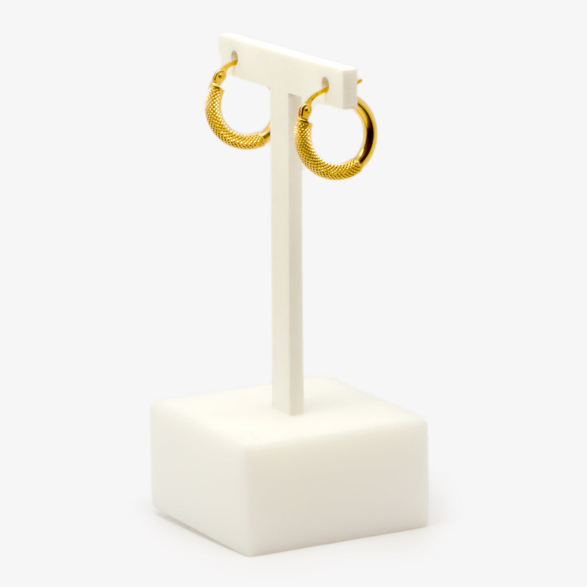 Small Fope Style Hoop Earrings