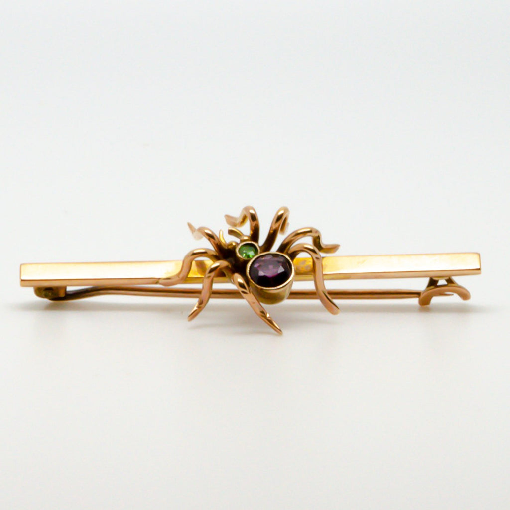 Jordans Jewellers 9ct yellow gold antique spider bar brooch
