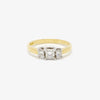 Jordans Jewellers 18ct gold three stone princess cut diamond ring